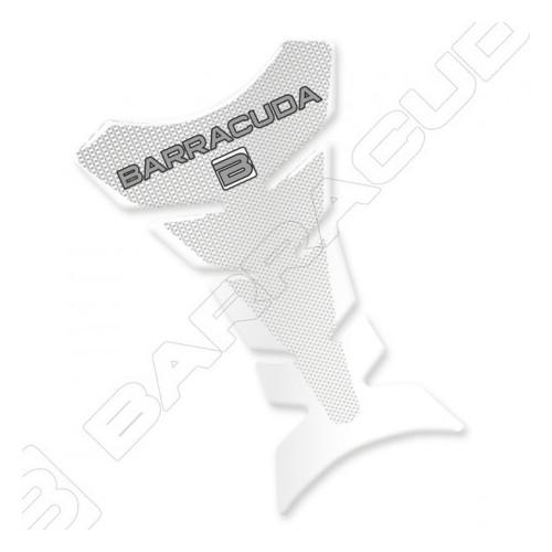 BARRACUDA PARASERBATOIO ADESIVO IN PLASTICA RESINATA TRASPARENTE CARBON