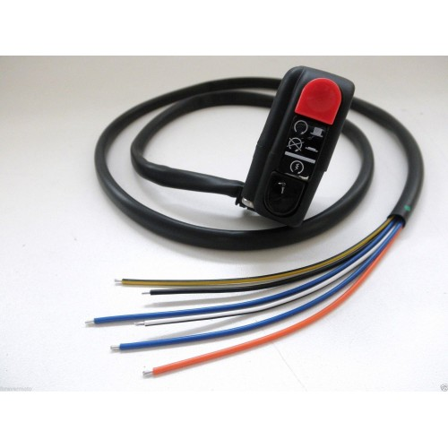 DOMINO Comando elettrico destro switch start run/stop Senza connettore Cavo 1mt