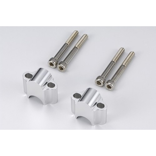 Kit rialzi rialzo spessori + 30 mm per manubrio ø 22 mm handlebar riser - universale moto