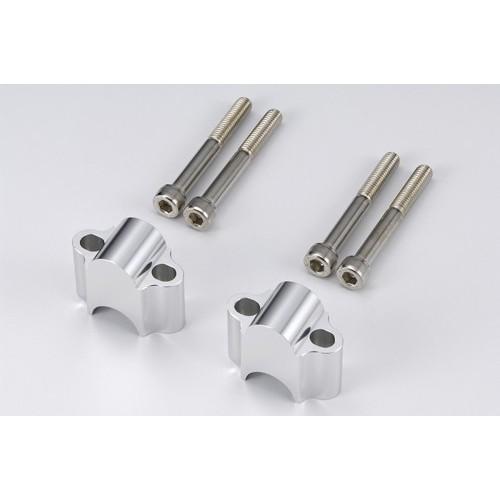 Kit rialzi rialzo spessori + 25 mm per manubrio ø 22 mm handlebar riser - universale moto