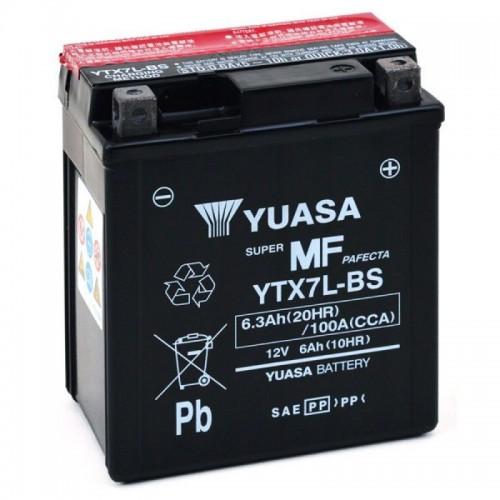 YUASA BATTERIA Senza Manutenzione con Acido YTX7L-BS - 12V 6,3Ah