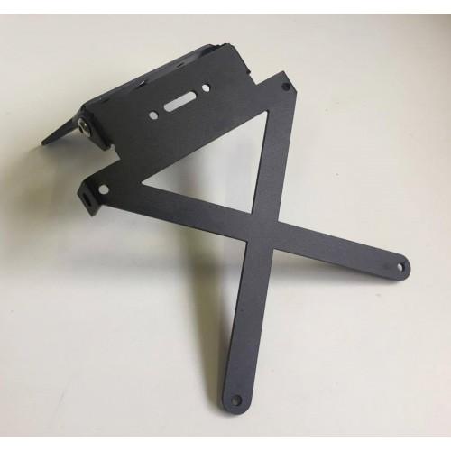 PORTA TARGA in alluminio nero - regolabile - universale moto scooter