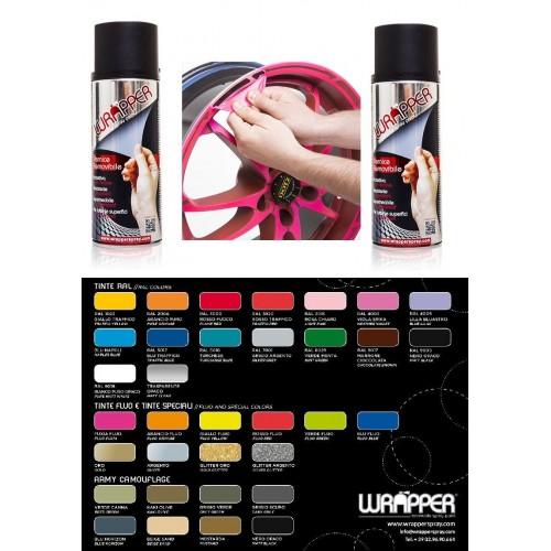 WRAPPER Bomboletta Spray vernice removibile per moto scooter auto tuning cerchi - disponibili diversi colori