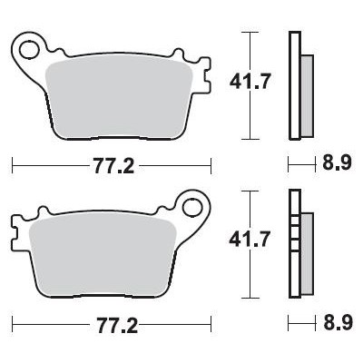 BRAKING 1 coppia pastiglie freno posteriore CM56 per HONDA - KAWASAKI - SUZUKI - YAMAHA