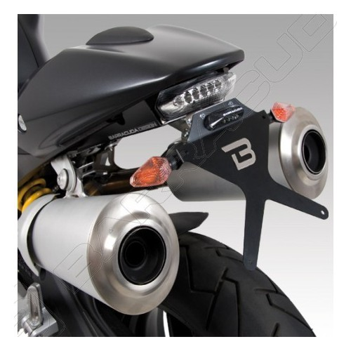 BARRACUDA KIT PORTATARGA RECLINABILE + FARETTO POSTERIORE OMOLOGATO PER DUCATI MONSTER 696