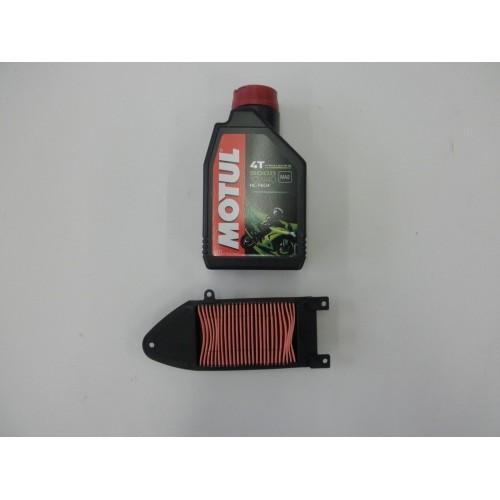 KIT TAGLIANDO OLIO MOTORE 5000 10W40 + FILTRO ARIA KYMCO AGILITY AGILITY 125 / 150 R16 2008 / 2013