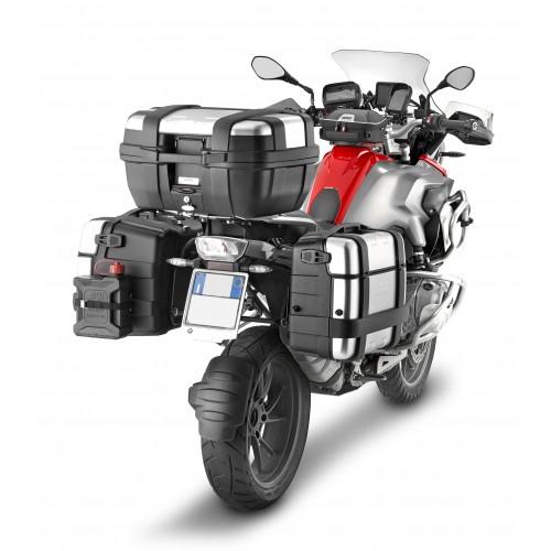 Valigia posteriore / laterale MONOKEY Trekker GIVI in alluminio anodizzato 46 litri per Moto Scooter
