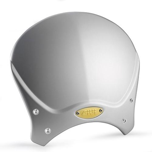 Cupolino universale GIVI RACE CAFE grigio in alluminio 20,5 x 26,5 cm