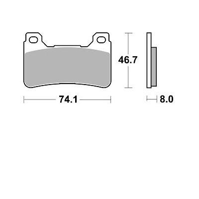 BRAKING 2 coppie pastiglie freno anteriore sint HONDA CBR 600 RR 05/17 - CROSSRUNNER - VFR F 800 - CB R 1000 - CBR 1000 RR 04/16