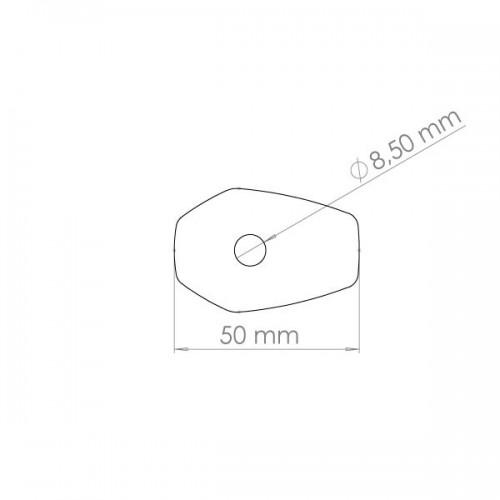 COPPIA FRECCE GAMBO CORTO A LED 62 X 25 mm PER HONDA CBR 600 F 2011 2012 2013