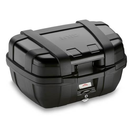 Valigia posteriore MONOKEY Trekker GIVI nera con finitura alluminio nero 52 litri+Attacco per APRILIA PEGASO 650 STRADA / TRAIL