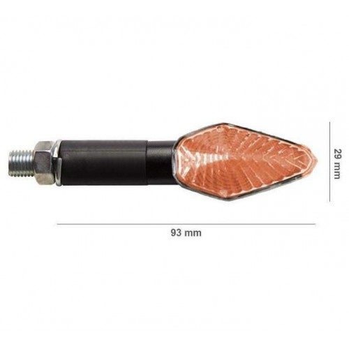 BARRACUDA Frecce Indicatori di Direzione a Lampada Nere MINI VIPER a gambo lungo
