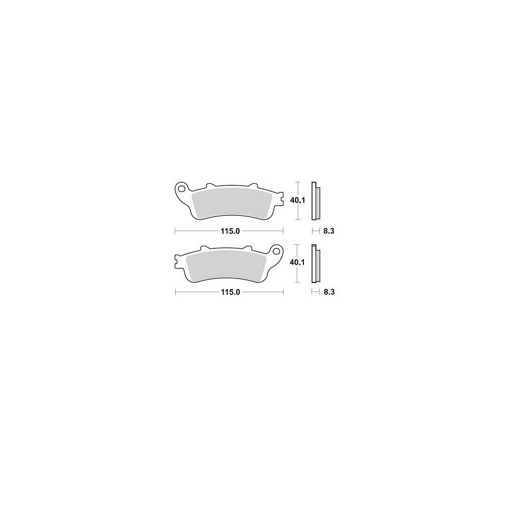 BRAKING 1 coppia pastiglie freno anteriore sinterizzate KAWASAKI VULCAN 650 S ABS 2015 2016 2017 - VULCAN 650 S CAFE' ABS 2017