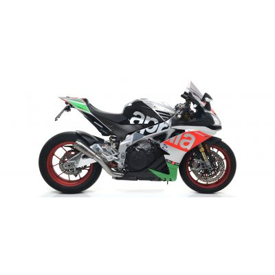ARROW Kit Terminale PRO-RACE RACING in nichrom con raccordo acciaio per APRILIA RSV4 RR / RF 2017 2018