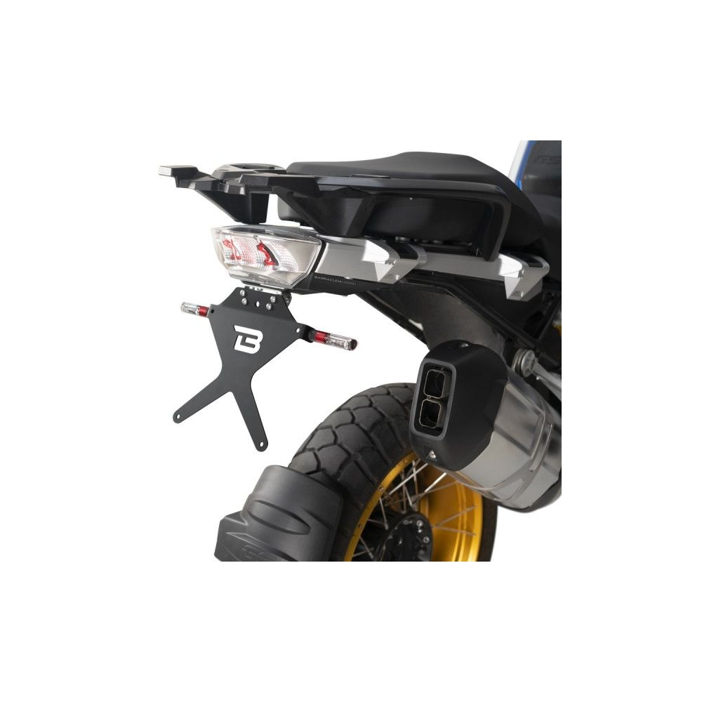 BARRACUDA PORTATARGA RECLINABILE per BMW R 1200 GS 2013 / 2018 - R 1250 GS 2019