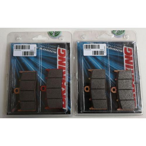 BRAKING 2 coppie pastiglie freno anteriore sinterizzate per BMW R 1200 R - K 1300 R - K 1600 GT / GTL / EXCLUSIVE