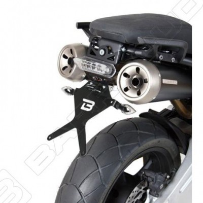 BARRACUDA PORTATARGA RECLINABILE con FARO a LED per YAMAHA MT 03 2006 2007 2008 2009 2010 2011 2012 2013 2014