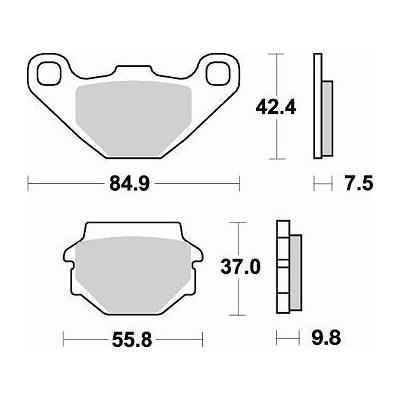 BRAKING 1 coppia pastiglie freno posteriore CM44 per APRILIA SX 125 2008 2009 2010 2011 2012 2013