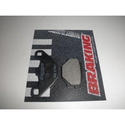 BRAKING 1 coppia pastiglie freno posteriore SM1 per APRILIA SX 125 2008/13 - KYMCO AGILITY 125 R16 2008/16