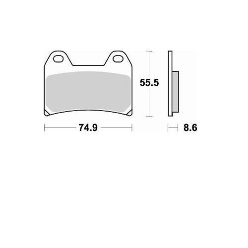 BRAKING 2 coppie pastiglie freno anteriore sinterizzate P50784