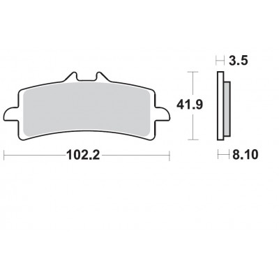 BRAKING 1 coppia pastiglie freno anteriore sinterizzate per KTM 450 SMR 2014 - 690 DUKE R 2013 2014 - 690 DUKE R ABS 2015/17