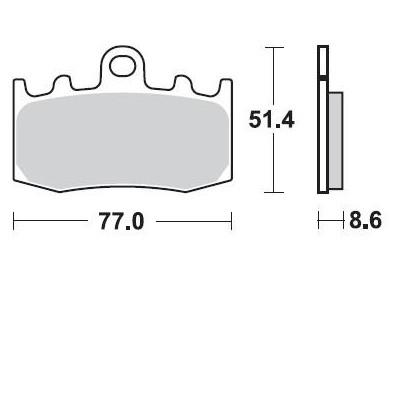 BRAKING 2 coppie pastiglie freno anteriore sinterizzate BMW K 1200 R - K 1200 S - R 1200 RT - R 1200 GS / ADVENTURE - K 1300 S
