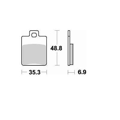 BRAKING 1 coppia pastiglie freno posteriore SM1 per GILERA - SYM
