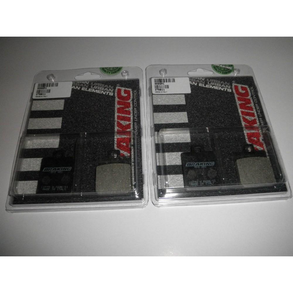 BRAKING 2 coppie pastiglie freno anteriore SM1 per PIAGGIO MP3 125 - MP3 250 - MP3 300 - MP3 400 - MP3 500