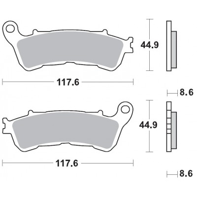 BRAKING 1 coppia pastiglie freno anteriore sint per HONDA CBR 250 R - SH i 300 - NC 700 - INTEGRA 700 - SUZUKI BURGMAN 125/200