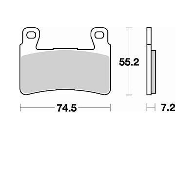 BRAKING 2 coppie pastiglie freno anteriore sintered HARLEY XR / XR 1200 - HONDA CBR 600 RR 03/04 - CB 1100 / EX - GOLD WING 1800