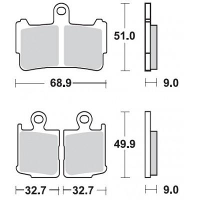 BRAKING 2 coppie pastiglie freno anteriore sinterizzate per HONDA VFR 1200 F / DCT 2010 2011 2012 2013 2014 2015 2016
