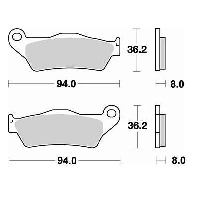 BRAKING 1 coppia pastiglie freno anteriore CM44 per HUSQVARNA SM S 125 1995/2012 - SMS4 125 2010/2011