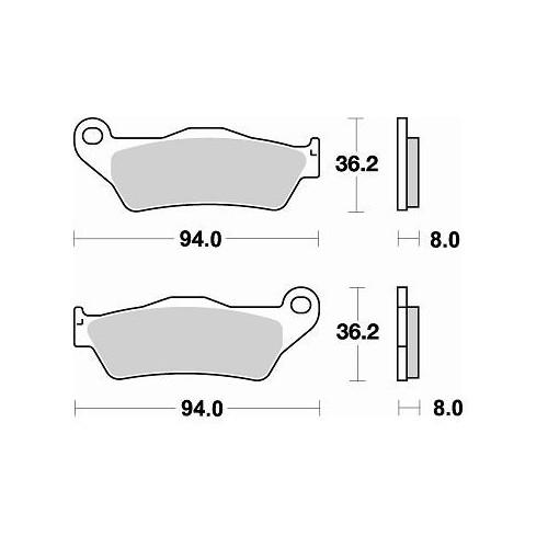 BRAKING 1 coppia pastiglie freno posteriore CM44 per KTM 990 ADVENTURE / R / S / ABS 06/12 - 1290 SUPER ADVENTURE R / S 17/18